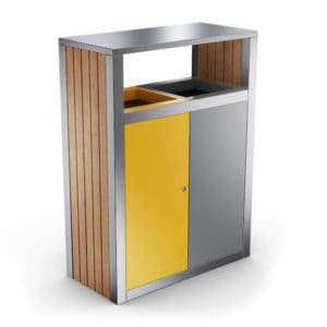 KUOKIO Outdoor Recycling Bin with 2 Compartments