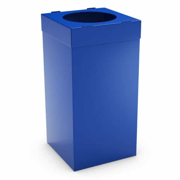 ATLAS Waste Bin for Office 80L - Blue, Alveolar Plastic 4mm