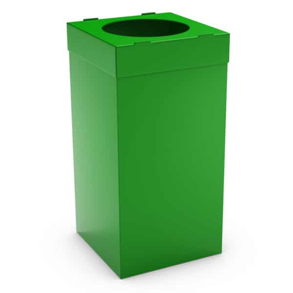 ATLAS Waste Bin for Office 80L - Green, Alveolar Plastic 4mm