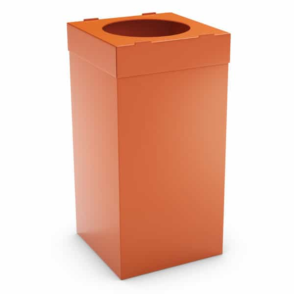 ATLAS Waste Bin for Office 80L - Orange, Alveolar Plastic 4mm