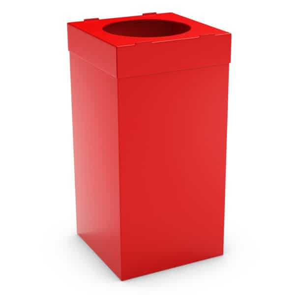 ATLAS Waste Bin for Office 80L - Red, Alveolar Plastic 4mm