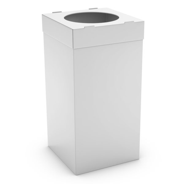 ATLAS Waste Bin for Office 80L - White, Alveolar Plastic 4mm