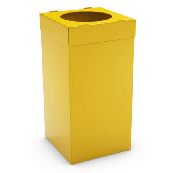 ATLAS Waste Bin for Office 80L - Yellow, Alveolar Plastic 4mm