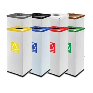 EKO Rectangular Compact Litter Bins - 60L