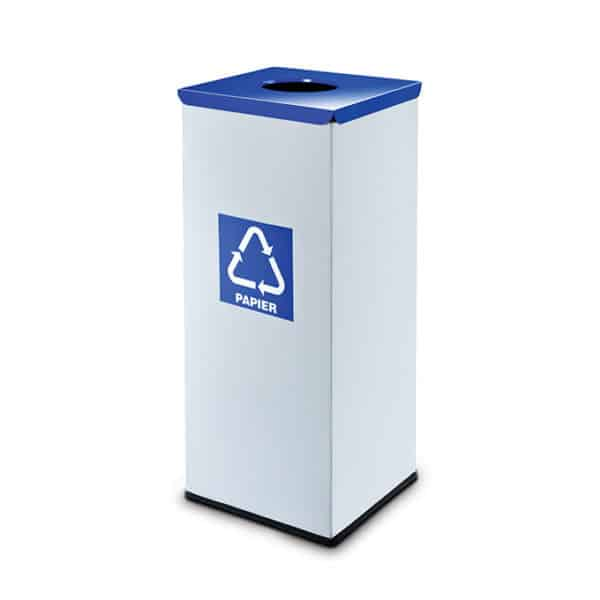 Eko star color lids recycling waste containers pack of 10 90 liters