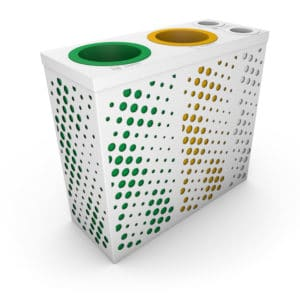 TOURBILLON Multi-Sort Recycling Bin for Waste and Coffee Cups