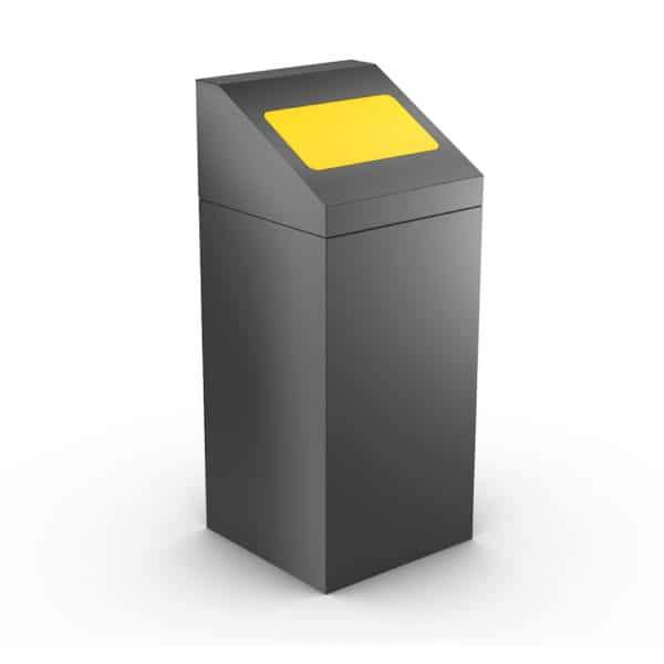 FLORIDA Modular Trash Can for Office - Yellow
