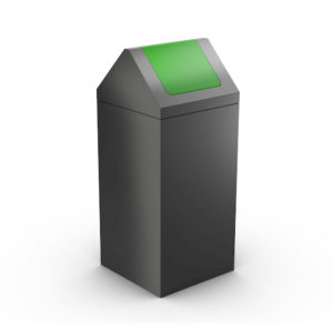 NEVADA Modular Litter Bin for Office - Green