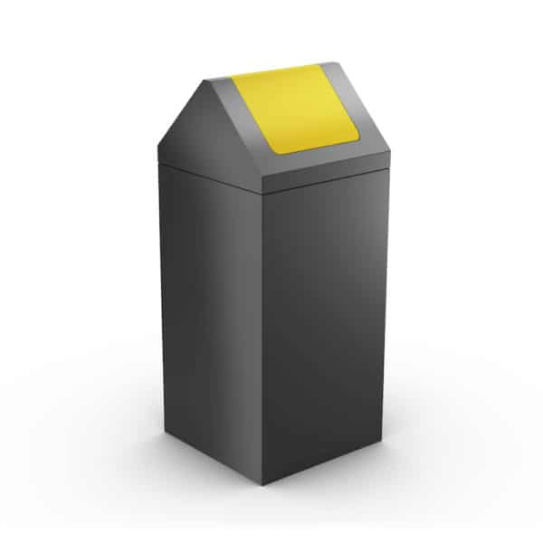 NEVADA Modular Litter Bin for Office - Yellow